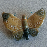 Wade whimsie Butterfly made in England figurine china